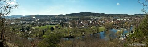 Panorama von Schwarza