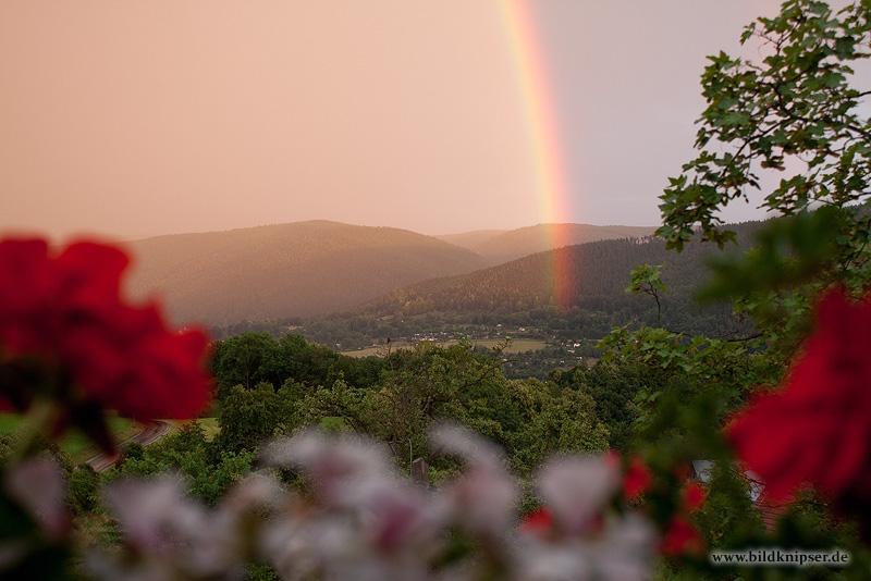 Regenbogen über Blankenburg
