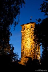 Der Marienturm bei Nacht