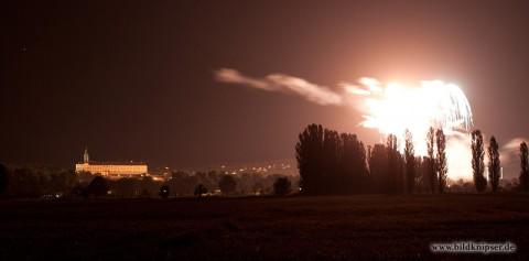 Heidecksburg im Licht des Feuerwerks