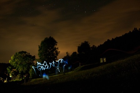 Grafiti in der Nacht