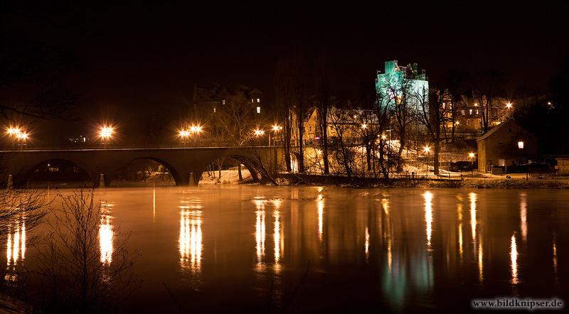 Saalfeld bei Nacht