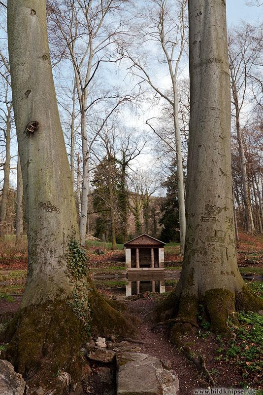 Hütte am Teich