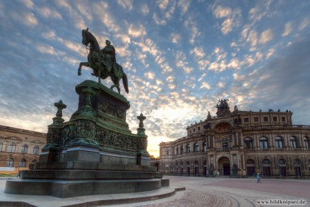 HDR vom Theaterplatz mit Semperoper