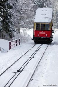 Wagen kurz vor der Bergstation