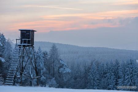 Abendstimmung über dem Thüringer Wald