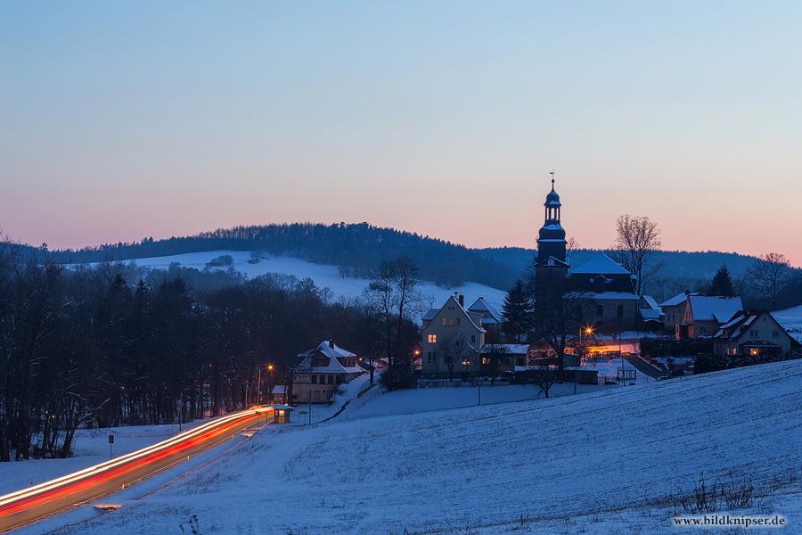 blaue Stunde in Quittelsdorf