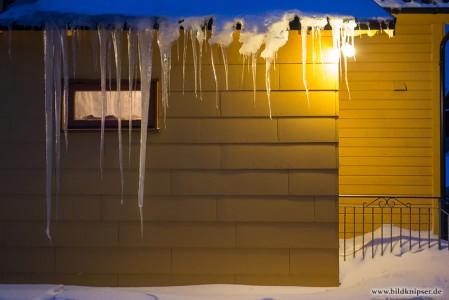 Eiszapfen an unserem Ferienhaus