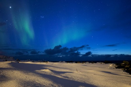Polarlicht der erste Versuch