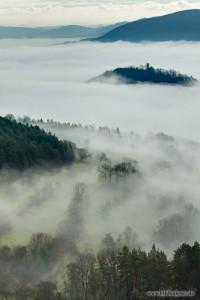 Burg Greifenstein über dem Nebelmeer