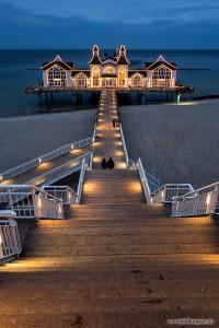 Seebrücke Sellin mit Beleuchtung