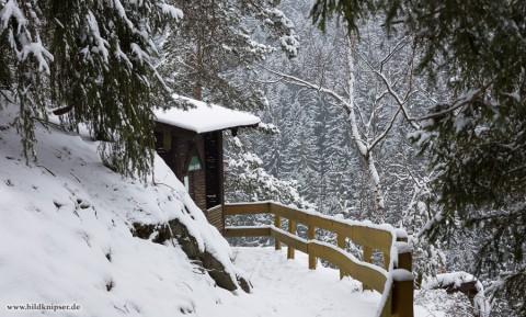 Schutzhütte am Aussichtspunkt