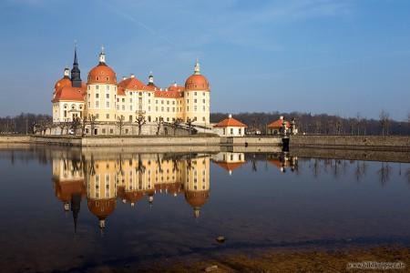 Moritzburg mit perfekter Spiegelung