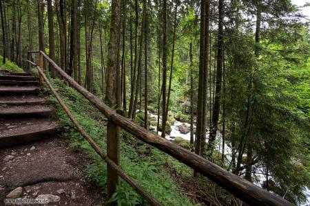 Weg am Gollinger Wasserfall
