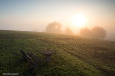 vernebelte Morgensonne
