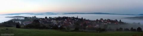 Panorama Horba über dem Nebelmeer