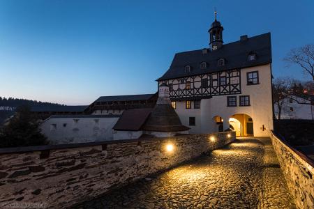 Schloss Burgk im Abendlicht