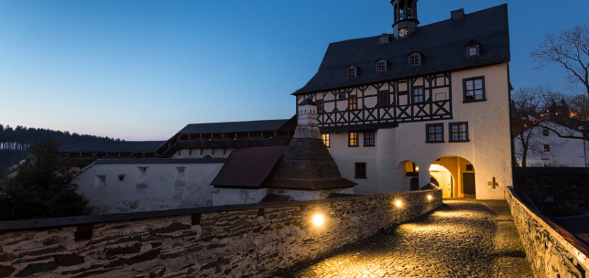 Bild der Woche: Abends auf Schloss Burgk