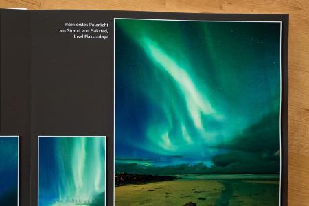 Tonwertabriss im Grün des Polarlichts