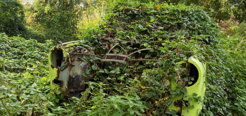Bilder der Woche: die Reste vom Trabant