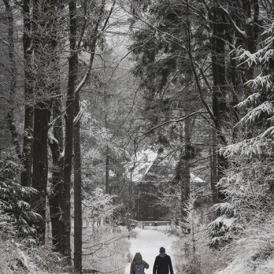 ein Wanderpaar
