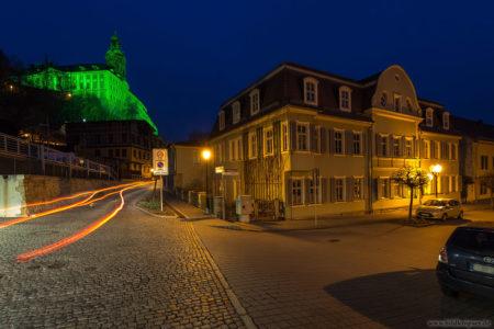 Blick zur Heidecksburg aus Rudolstadts Altstadt