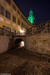 Schloss Heidecksburg Innenhof mit grünen Turm