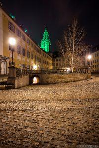 Innenhof des Schloss Heidecksburg zum St. Patrick's Day