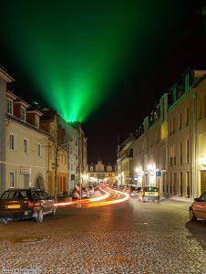 Beleuchtung erzeugt einen Lichteffekt der an Polarlicht erinnert
