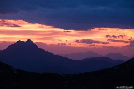 Foto von Abendrot in den Alpen