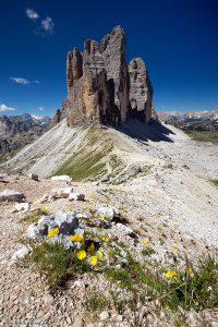 Fotografie aus den Dolomiten, die Drei Zinnen